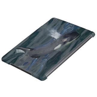 Orca blowing iPad air case