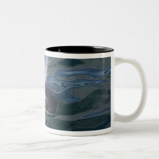 Orca blowing Two-Tone coffee mug