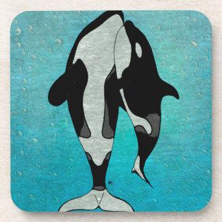 Orca Blue Drink Coaster