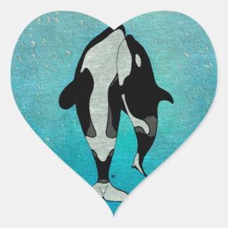 Orca Blue Heart Sticker