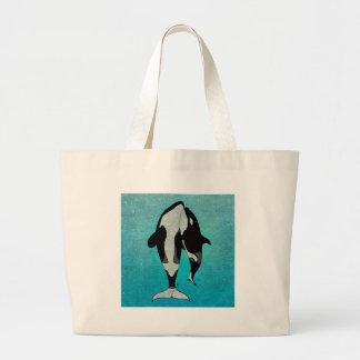 Orca Blue Large Tote Bag