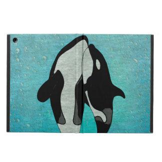 Orca Blue Woodblock Case For iPad Air