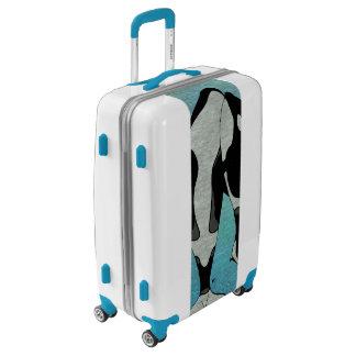 Orca Blue Woodblock Luggage