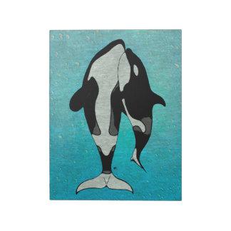 Orca Blue Woodblock Notepad