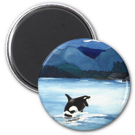 Orca Breach 2 Inch Round Magnet