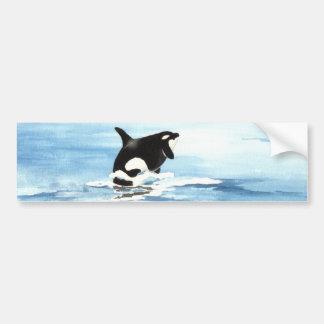 Orca Breach Bumper Sticker