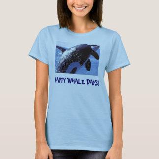 orca breach, HAPPY WHALE DAYS! T-Shirt