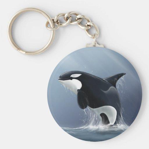 Orca Breach Keychain