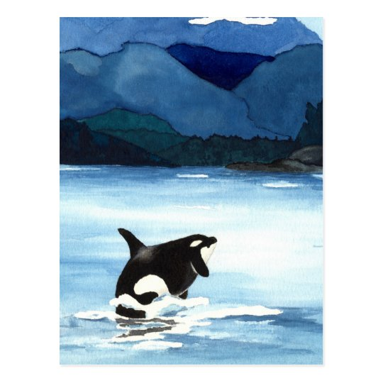 Orca Breach Postcard