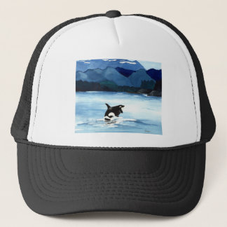 Orca Breach Trucker Hat