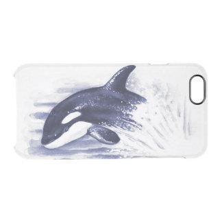 Orca Breaching Blue Clear iPhone 6/6S Case