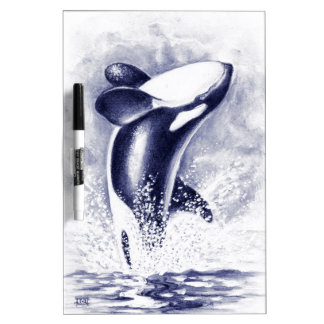 Orca Breaching Dry Erase Board