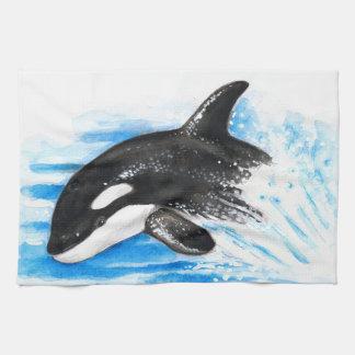 Orca Breaching Hand Towel