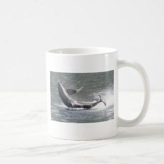 Orca breaching in Alaska Coffee Mug