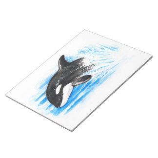 Orca Breaching Notepad