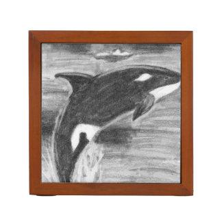 Orca Breaching Pencil Holder
