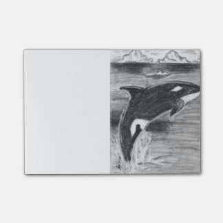 Orca Breaching Post-it Notes
