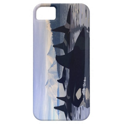 Orca brillante del agua funda para iPhone SE/5/5s