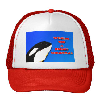 Orca Christmas Hops to the Holiday Bright Mesh Hat