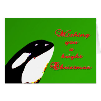 Orca Christmas Hops to the Holiday Greeting Card