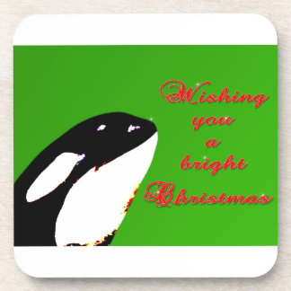 Orca Christmas Hops to the Holiday Beverage Coasters