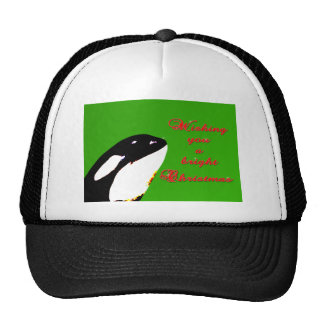 Orca Christmas Hops to the Holiday Mesh Hat