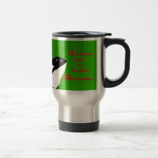 Orca Christmas Hops to the Holiday 15 Oz Stainless Steel Travel Mug