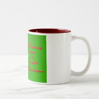Orca Christmas Hops to the Holiday Two-Tone Coffee Mug