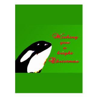 Orca Christmas Hops to the Holiday Postcard