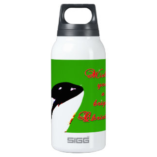 Orca Christmas Hops to the Holiday 10 Oz Insulated SIGG Thermos Water Bottle