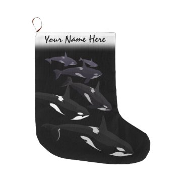 Christmas Themed Orca Christmas Stocking Personalized Killer Whale