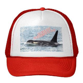 Orca Christmas Winter Wonderland Holiday Mesh Hat