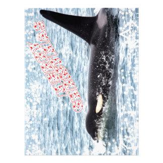 Orca Christmas Winter Wonderland Holiday Letterhead Design