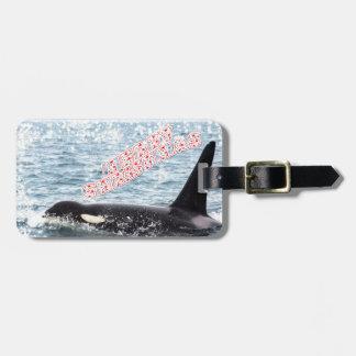 Orca Christmas Winter Wonderland Holiday Bag Tag