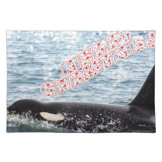 Orca Christmas Winter Wonderland Holiday Place Mat