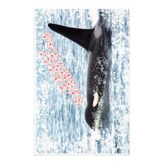 Orca Christmas Winter Wonderland Holiday Stationery Design