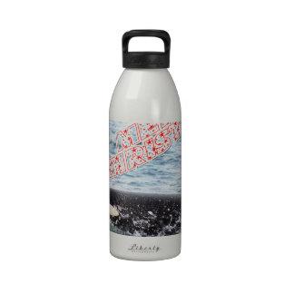 Orca Christmas Winter Wonderland Holiday Water Bottle