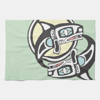 Orca Circle Kitchen Towel