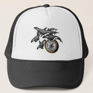 Orca Compass Trucker Hat