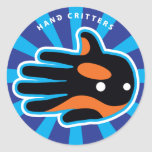 Hand shaped Orca Cute Killer Whale Dolphin Classic Round Sticker