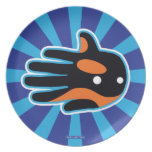 Hand shaped Orca Cute Killer Whale Dolphin Plate