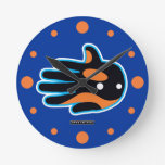 Hand shaped Orca Cute Killer Whale Dolphin Round Clock