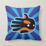 Hand shaped Orca Cute Killer Whale Dolphin Throw Pillow