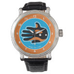 Hand shaped Orca Cute Killer Whale Dolphin Wristwatch