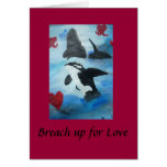 Orca dance of Love Cards