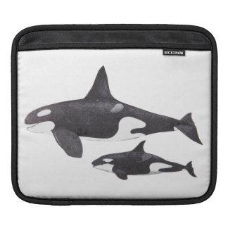 Orca de la madre y del bebé fundas para iPads