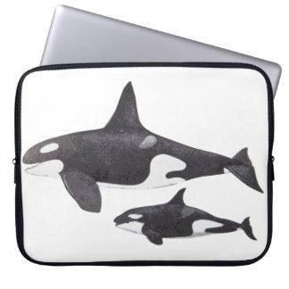 Orca de la madre y del bebé funda ordendadores