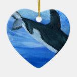 Orca de la orca adornos de navidad