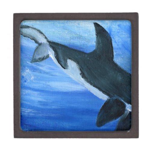 Orca de la orca cajas de joyas de calidad