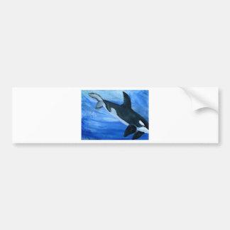 Orca de la orca pegatina para auto
